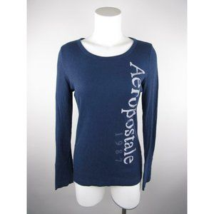 Aéropostale Stretch Graphic Thermal Scoop Knit Top